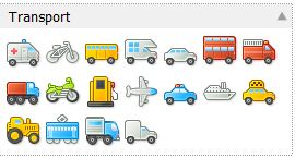 transport iconen
